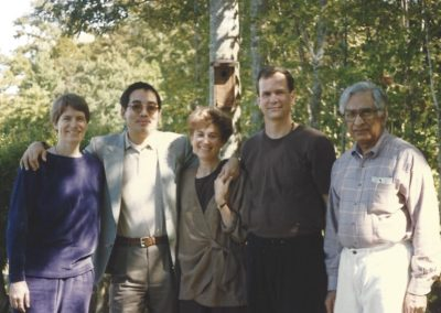 Traleg Rinpoche with members, 1989