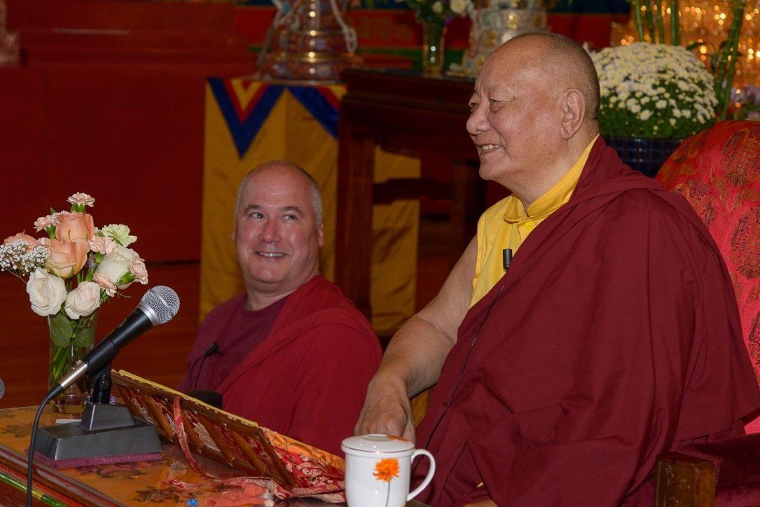 Khenpo Karthar Rinpoche and Lama Yeshe, 2014